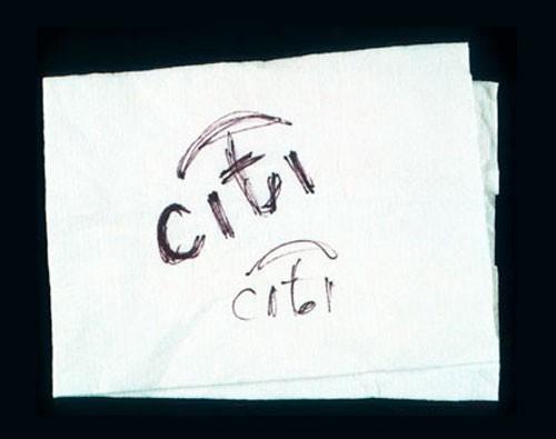 Scher的快速素描形成了花旗银行150万美元标志的基础-上海品牌logo设计公司