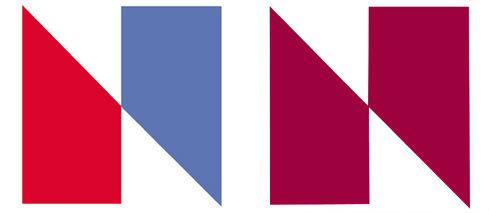 1976年NBC标志logo(左)和相当相似的NETV标志(右)-上海品牌logo设计公司