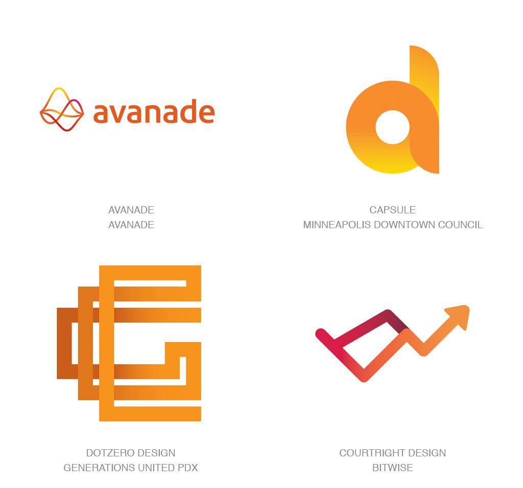 渐变色logo-2017年LOGO设计趋势报告完整版-上海LOGO设计公司
