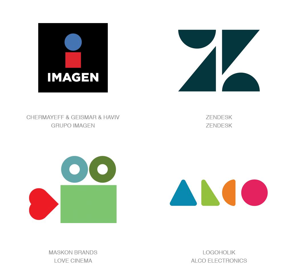 简单几何图形logo-2017年LOGO设计趋势报告完整版-上海LOGO设计公司