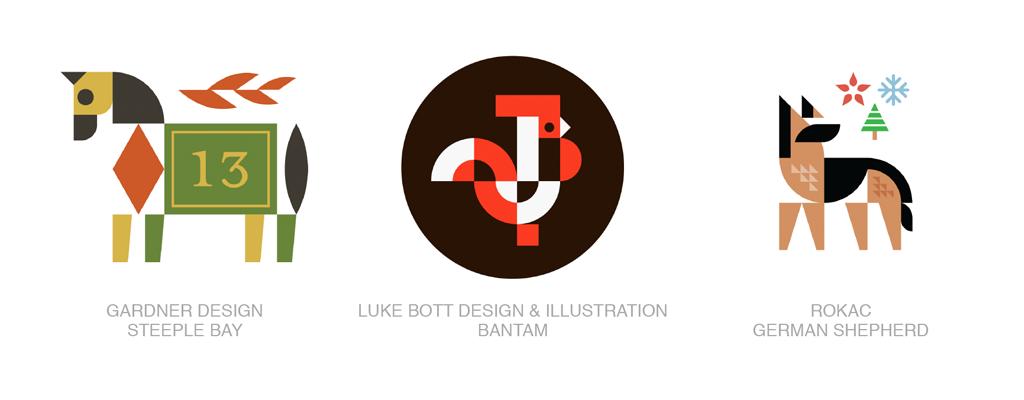 组合动物logo-2017年LOGO设计趋势报告完整版-上海LOGO设计公司