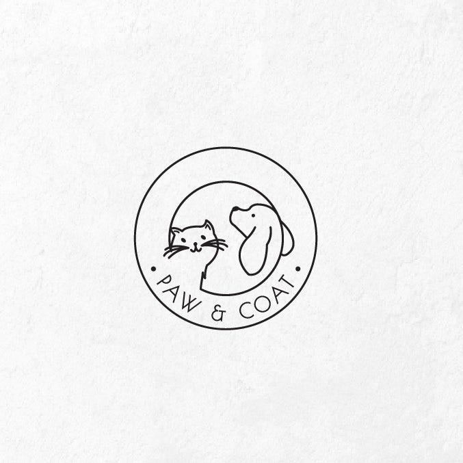 狗和猫一家的宠物logo设计-上海logo设计公司