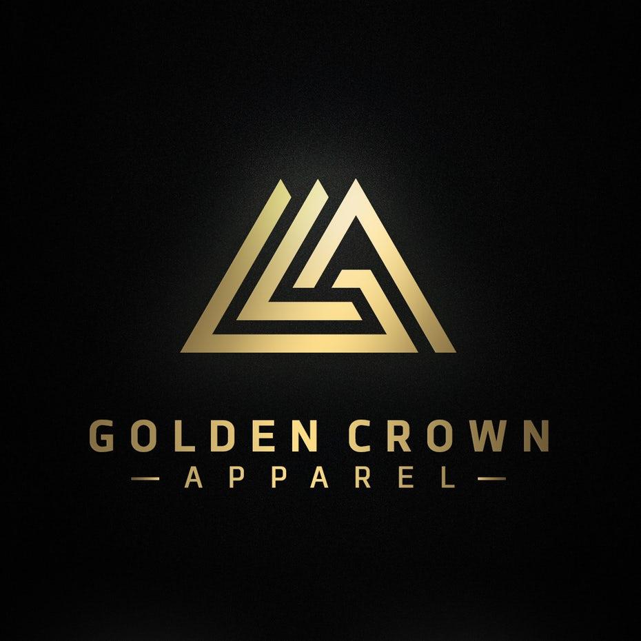 复杂几何风三角形logo设计-上海logo设计公司