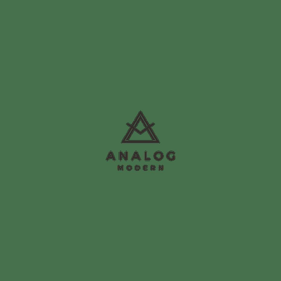 时髦的装饰线三角形logo设计--上海logo设计公司