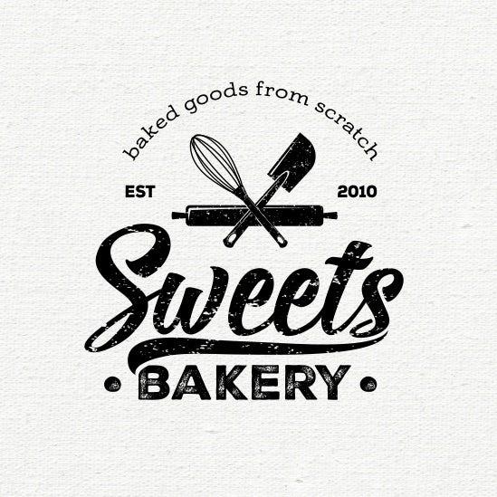 """如果使用蛋糕或羊角面包的logo感觉太""""可爱""""或受限,请尝试将您的烘焙"""