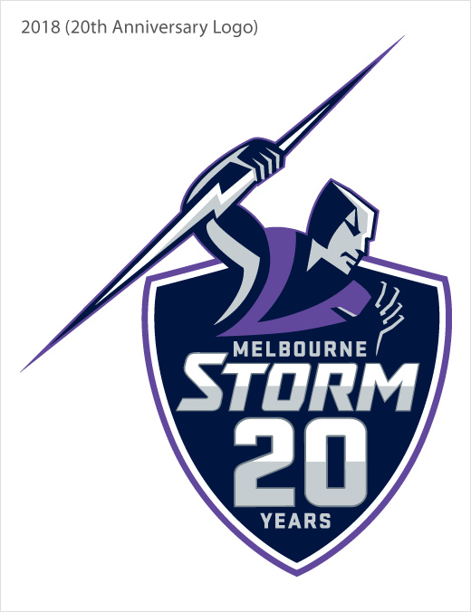 澳大利墨尔本风暴亚橄榄球队logo设计-20周年纪念标志