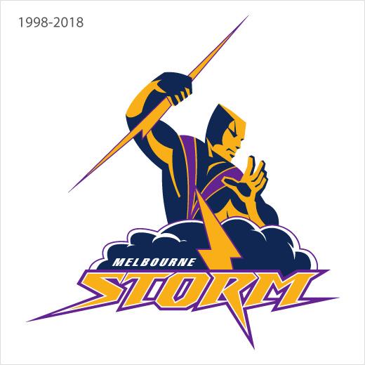 澳大利墨尔本风暴亚橄榄球队logo设计-旧标志