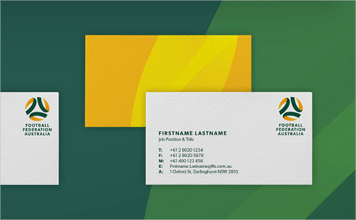 澳大利亚足球联合协会推出新标志设计-vi设计-名片设计