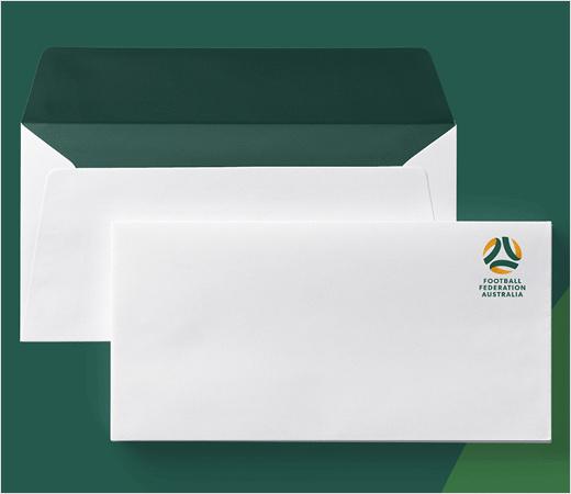 澳大利亚足球联合协会推出新标志设计-vi设计-信封信纸设计