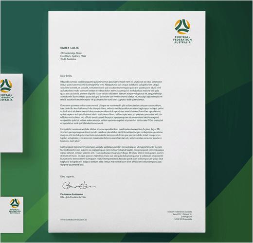 澳大利亚足球联合协会推出新标志设计-vi设计
