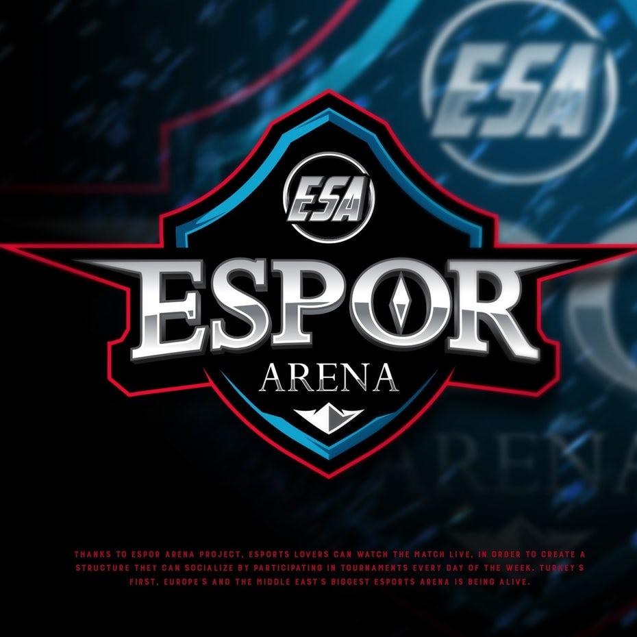 黄金和银logo设计-Espor Arena项目标志设计