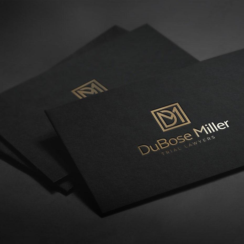 金箔logo设计-优雅的律师标志设计