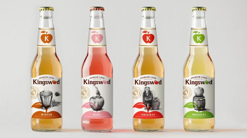 Kingswood苹果酒包装标签设计