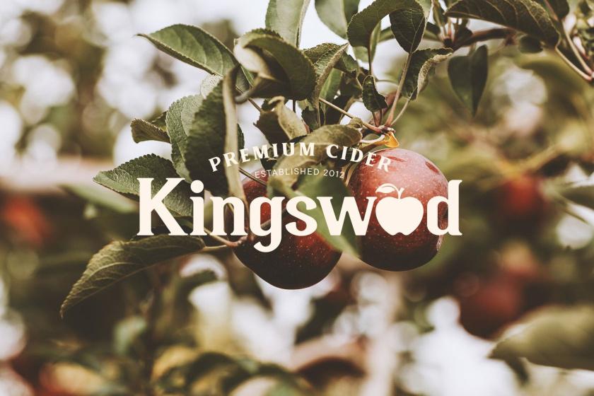 Kingswood苹果酒包装标签设计-logo设计