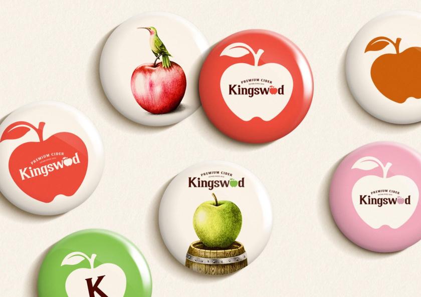 Kingswood苹果酒包装标签设计-徽章