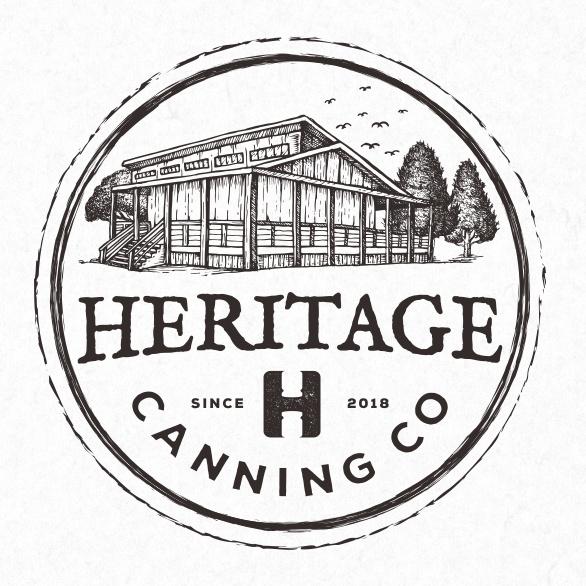 复古单黑色徽标logo设计-Heritage Canning Co.标志logo设计