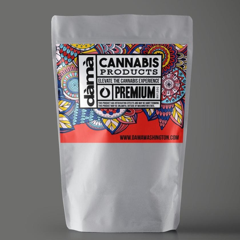 Dama Cannabis的大麻标志设计