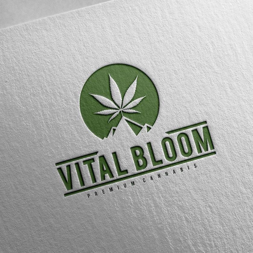 Vital Bloom大麻标志设计