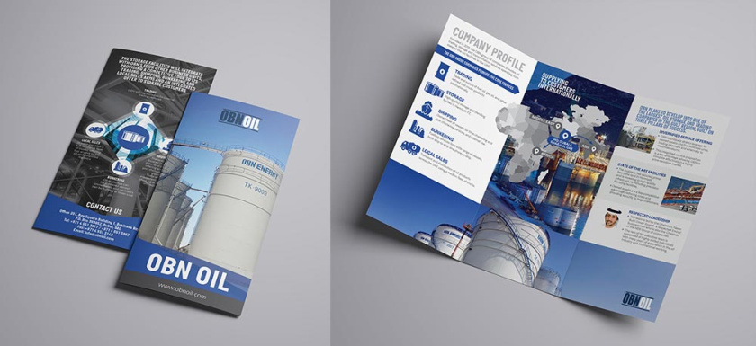OBNoil Trifold宣传册设计灵感