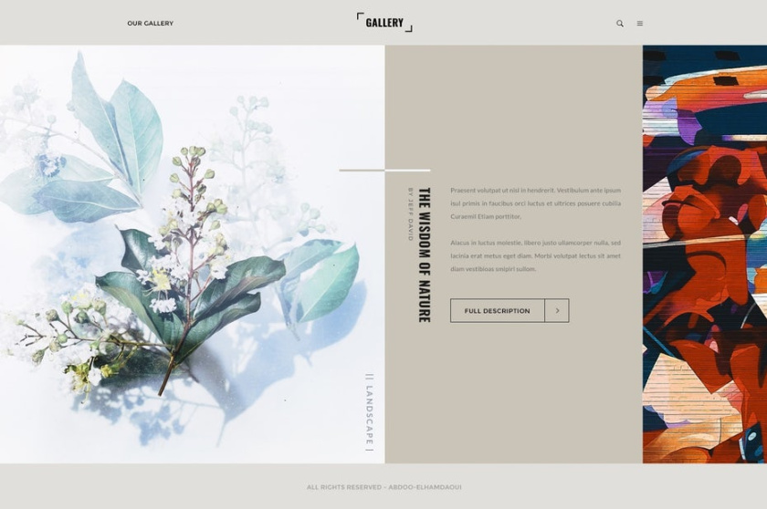 不对称布局设计-自然画廊展示设计的智慧