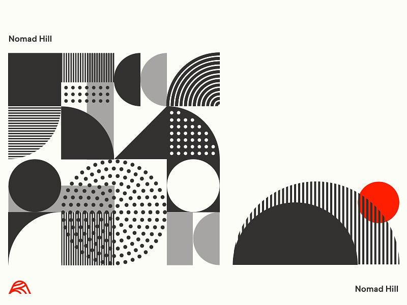 现代中世纪风格-中世纪现代平面标志设计