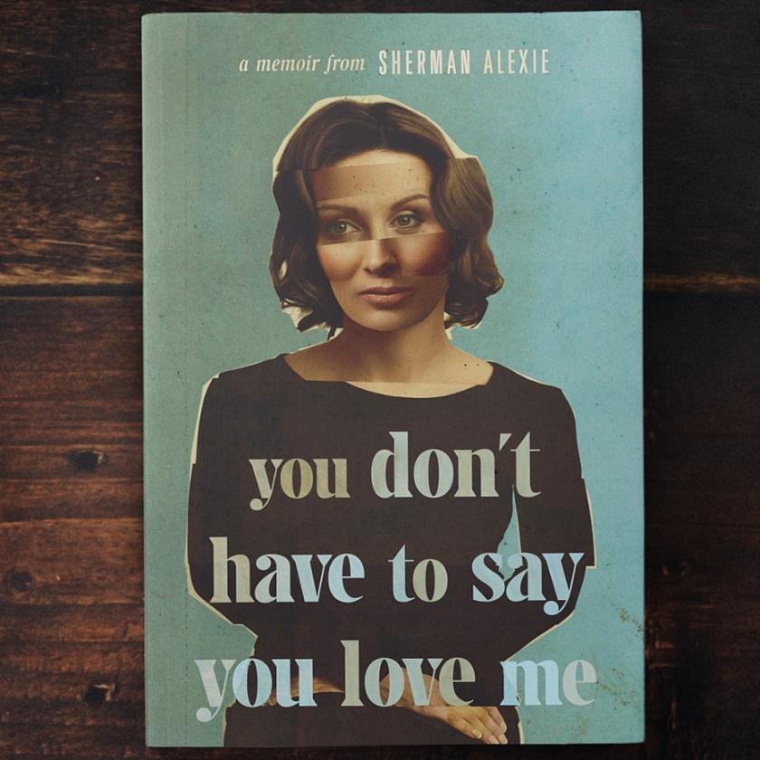 温暖和不喜形于色的照片调色板-你不必说你爱我的书封面