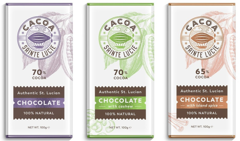 轻插画设计-精致的巧克力棒包装设计,这些巧克力棒的包装感觉昂贵且自然
