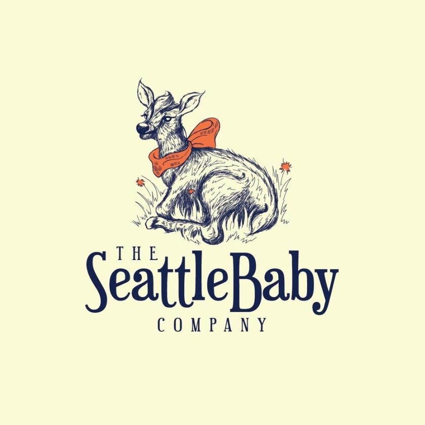 轻插画设计-西雅图婴儿公司的标志设计
