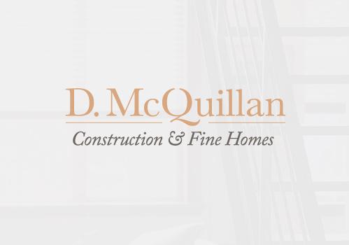 丰满的衬线字体设计-D. McQuillan建筑和精品房屋标志设计