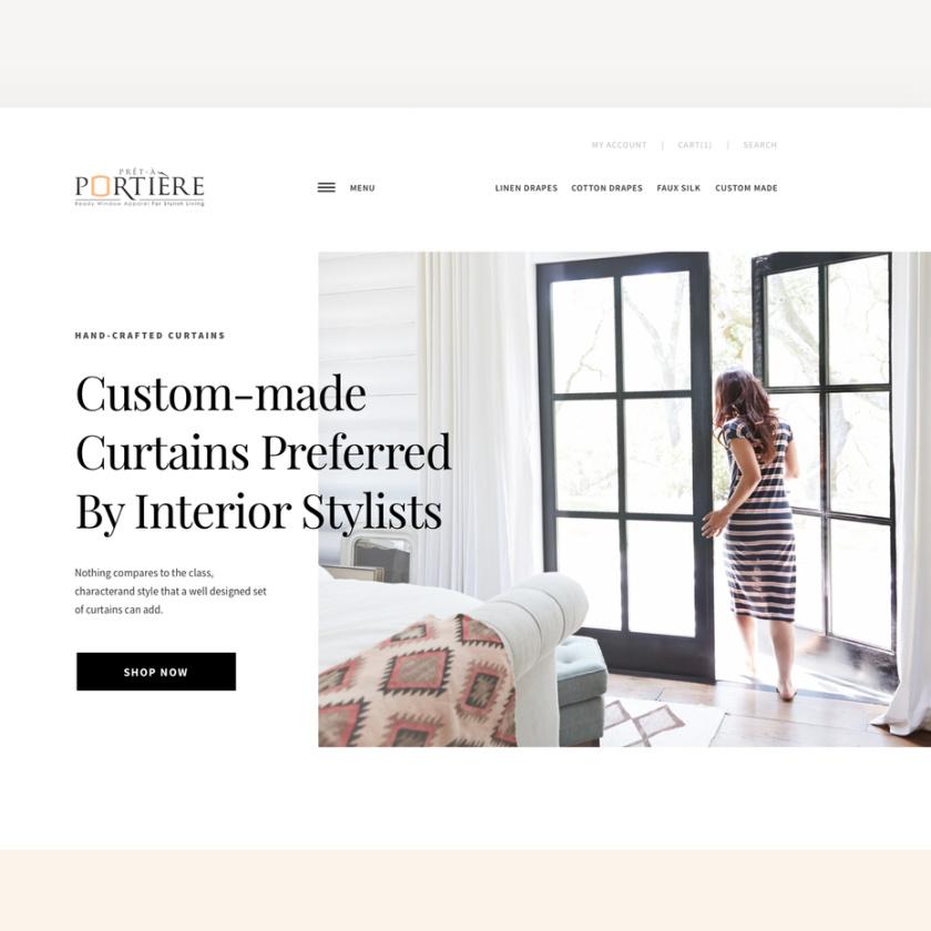 丰满的衬线字体设计-极简主义/斯堪的纳维亚网页设计