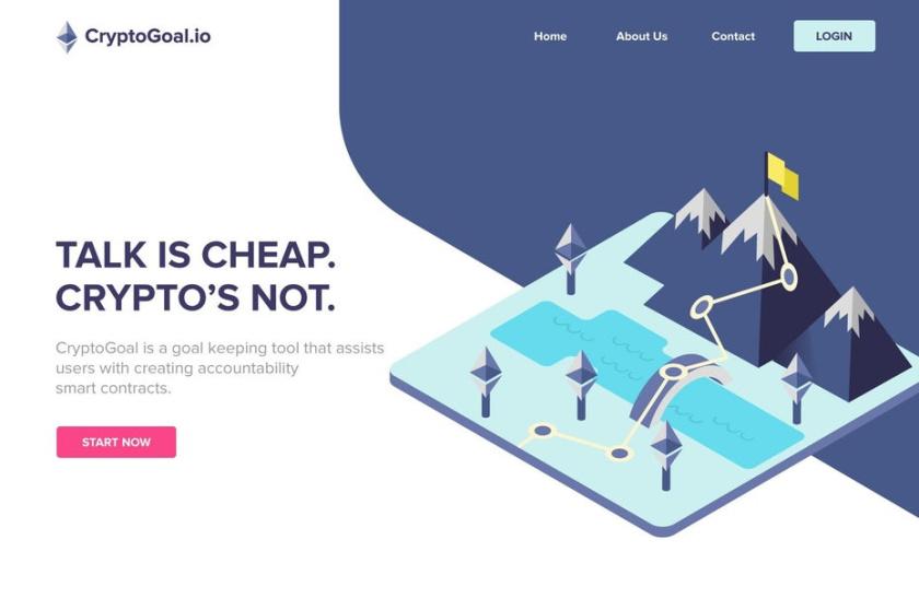 等距设计-CryptoGoal.io网页设计