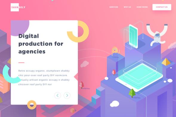等距设计-Savagely网站设计
