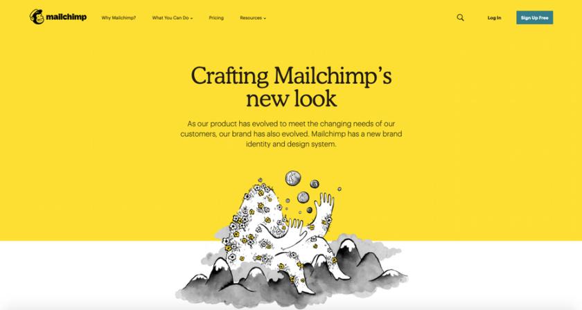 Mailchimp网页设计