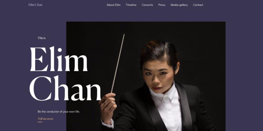 Elim Chan网页设计