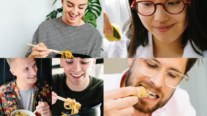 Taster外卖餐饮品牌vi形象设计,一个大胆热情的舌头图案