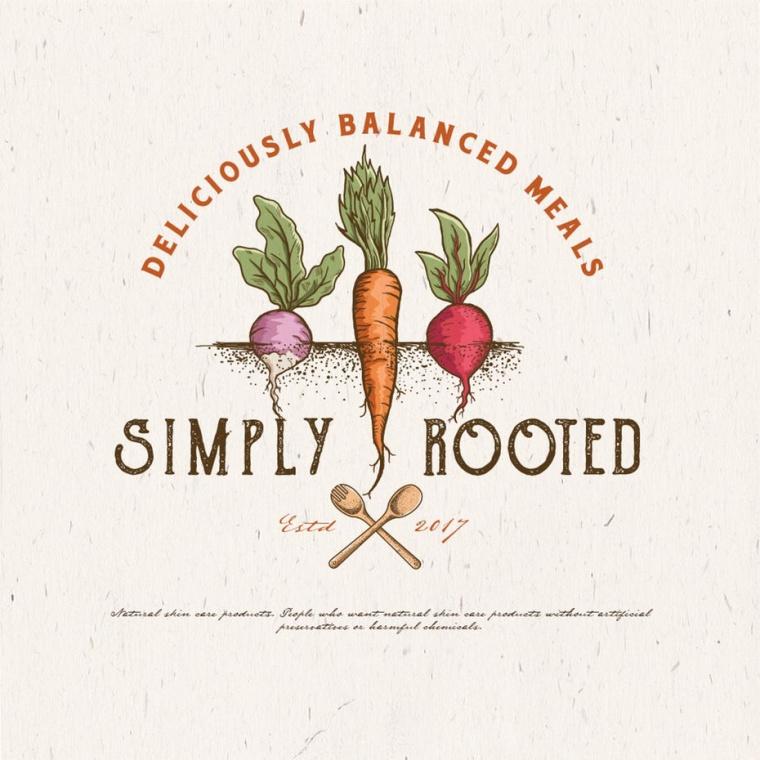 简单的根植物的标志logo设计-上海Logo设计公司logo设计最终指南