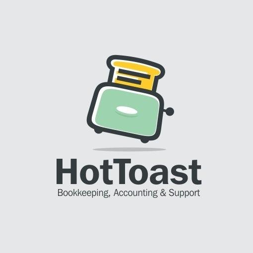 HotToast一个有趣和轻松的会计徽标logo