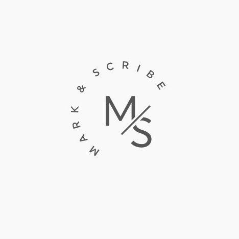 Mark&Scribe文字图形logo-上海Logo设计公司logo设计最终指南
