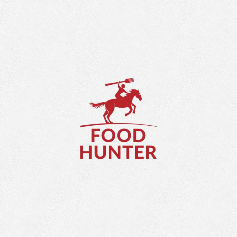 食物猎人的红色商标logo-上海Logo设计公司logo设计最终指南