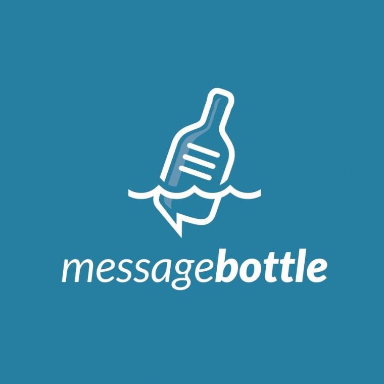 消息瓶的蓝色logo由bo_rad设计公司设计