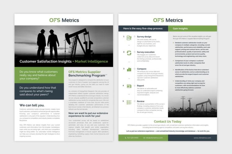 由Adwindesign设计公司为OFS指标设计的宣传册