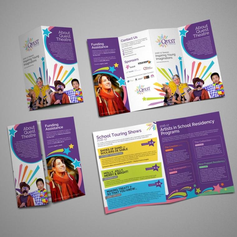 Quest剧院宣传册设计--设计手册的最终指南