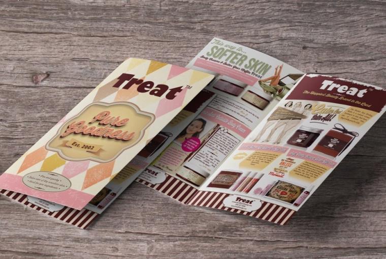 美容产品宣传册由zeljko_radakovic设计公司为Treat Beauty 设计