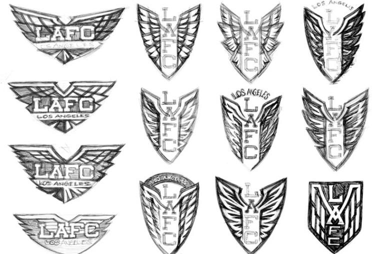 LAFC波峰概念草图设计-上海logo设计公司