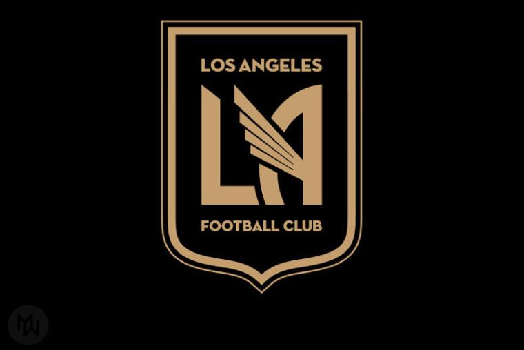 LAFC足球俱乐部徽章式logo设计-上海logo设计公司