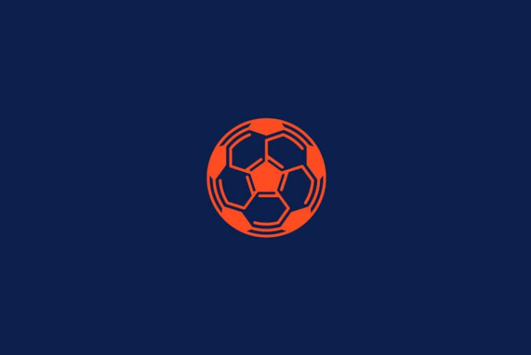 Footbot橙色足球logo设计-上海logo设计公司