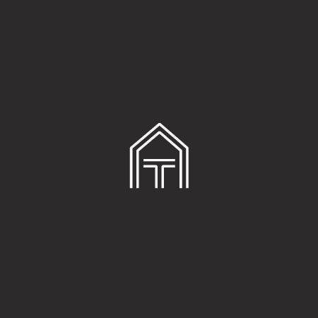 作为建筑构造的几何形状logo设计-简单建筑组合logo设计