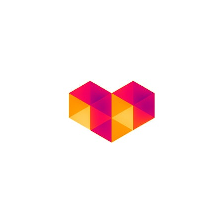 对称和平衡的几何logo设计-多彩logo