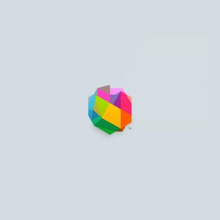 3D几何徽标logo设计-立体彩色logo