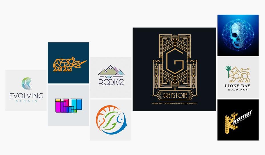 上海logo设计公司欣赏:30个最具代表性的几何徽标logo设计